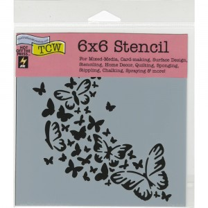 Crafter's Workshop Template 6x6 - Butterfly Trail