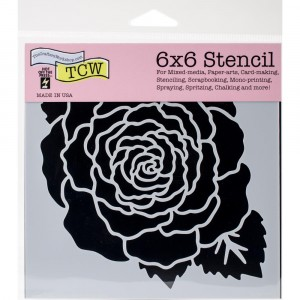 Crafter's Workshop Template 6x6 - Large Rose