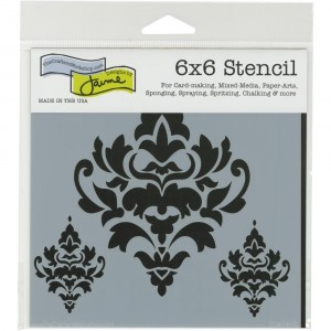 Crafter's Workshop Template 6x6 - Damask Decor