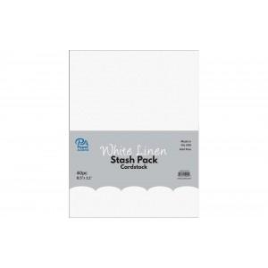 Paper Accents Cardstock Stash Pack 40 Blatt - White Linen