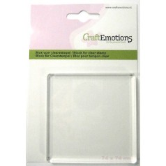 CraftEmotions Acrylblock für Clear Stamps - 7,4 cm x 7,4 cm