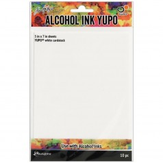 Tim Holtz Alcohol Ink Yupo Paper - White 12,7 x 17,8 cm