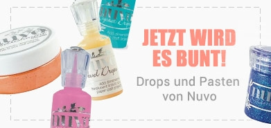 Nuvo Crystal Drops, Jewels Drops, Embellishment Mousse und Glimmer Paste jetzt im Shop!