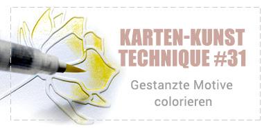 Technique #31: Gestanzte Motive colorieren